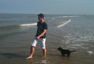 Ayka am Strand