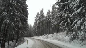 Auf der Fahrt rauf nach Neuastenberg auf 800m Höhe.