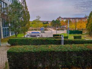 Gassi Gehen - Eingang zum IHZ Bürgerpark